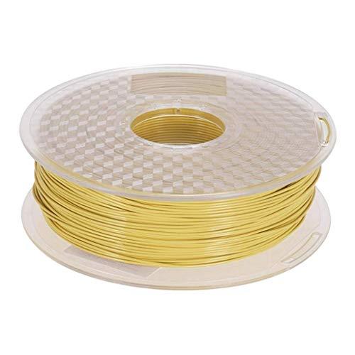 Accesorios de impresora PETG 3D filamento de impresora 1,75 mm 1 kg bobina de 2,3 libras ampliamente compatible con impresión 3D amarillo