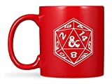 Dungeons and Dragons Mug – Etched DnD Mug – Dungeons and Dragons Gifts Ceramic Coffee Mug w/, 20 Sided Die & DnD Logo – Dual Design on Front & Back – Officially Licensed DnD Gifts (20oz)