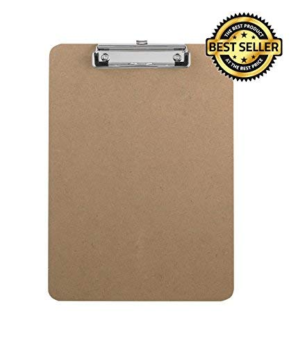 Writing Pad Wood Clipboard - Best for Construction, Contractors, or Nursing - Lightweight Clip Board Features Durable Wood with Strong Sturdy Holder- Promotes Productivity and Organization