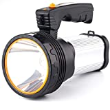CSNDICE 35W Rechargeable Spot light, spotlight flashlight led, High-power Super Bright 6000mah 9000 Lumens, USB Power Bank Rechargeable flashlights IPX5 Waterproof Searchlight spotlight hunting