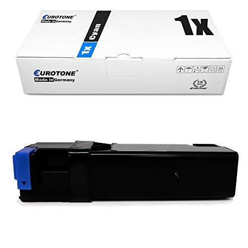 1x Eurotone Toner Cartridge for Dell 2130 2135 cn replaces 593-10313 FM065 Cyan Blue
