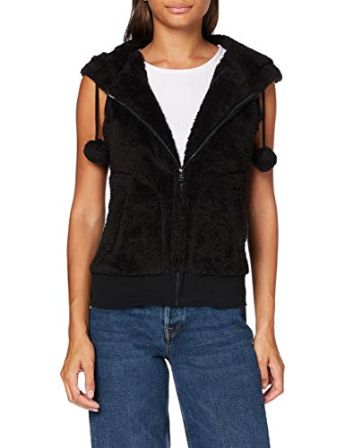 Urban Classics Damen Ladies Teddy Vest Weste, Schwarz (Black 7), Large