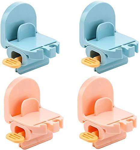 Dulcicasa 4 piezas de exprimidor de tubos de pasta de dientes, soporte de asiento para pasta de dientes, dispensador de pasta de dientes giratorio para baño