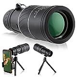 Dyna-Living - Telescopio monocular (16 x 52 mm, HD, BAK4, con soporte para smartphone y trípode para observación de terrenos y salvajes, observación de aves, visita, visión diurna y nocturna)