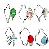 Christmas Ornament Cookie Cutter Set -6 Pieces In Assorted Designs - Stainless Steel