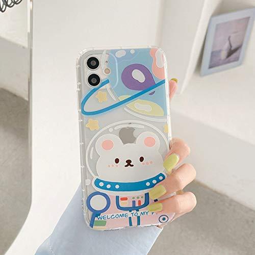 FYMIJJ Estuche para teléfono para iPhone 12 Mini 12 11 Pro X XR XS MAX 7 8 Plus SE 2 Cara de Sonrisa de Dibujos Animados de Moda Clear Soft TPU para iPhone 11,1258, para iPhone 7