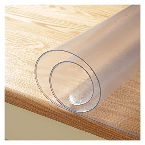 GHHZZQ Cutable Manteles PVC Pegamento Blando De Cristal Impermeable Anti-Quemaduras Protector Mesa para Cocina Restaurante Hotel, Rectángulo, Mate Varios Tamaños (Color : 1.5mm, Size : 90x90cm)