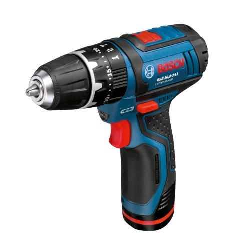 Bosch GSB 10,8-2-LI - Taladro (Ión de litio, 10.8 V, Negro, Azul, Metálico, Rojo)