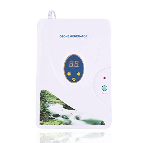 Máquina de Desintoxicación de Ozono Generador Ozono Ionizador para Frutas Verduras Carne Uso Hogar Cocina con Temporizador Digital 1-30 Minutos Socialme-EU