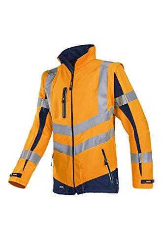 Sioen Frederik 724za2tu2414X L Malden Soft Shell Jacke mit abnehmbaren Ärmeln, Hi-Vis Orange/Navy