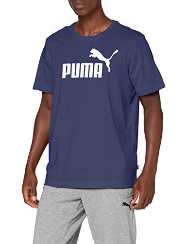 PUMA Herren ESS Logo Tee T-Shirt, Blau (Peacoat), Gr. XL