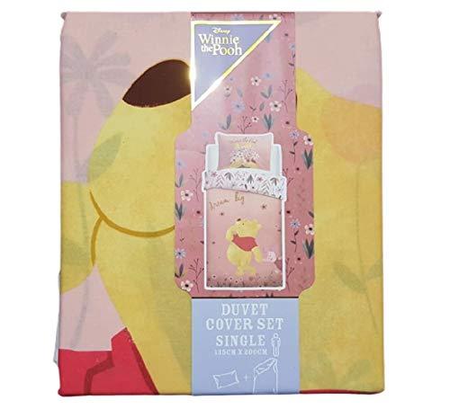 Disney - Juego de funda de edredón y funda de almohada, diseño de Winnie The Pooh