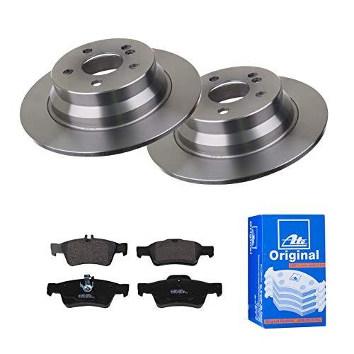 2 Bremsscheiben Voll 300 mm + Bremsbeläge Hinten von ATE (1420-22257) Bremsensatz Bremsanlage Bremsen-Kit,Bremsenset, Bremsscheiben, Bremsbeläge, Bremsen-Set, Beläge, Bremsbelag, Bremsbelagsatz,