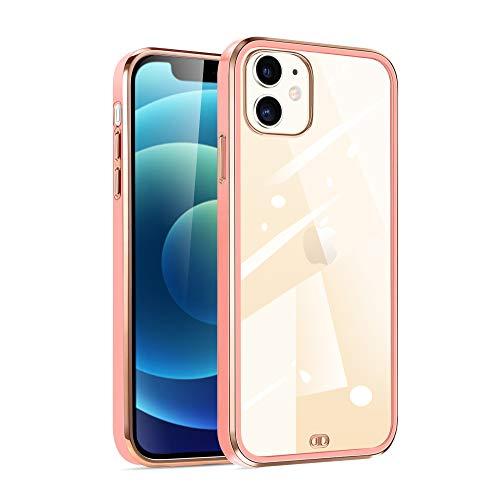 iPhone12mini ケース iphone12 mini ケース クリア tpu 透明 耐衝撃 シリコン スリム 薄型 5.4インチ アイフォン【2020最新型】 iPhone 12 mini ケース (桜ピンク)