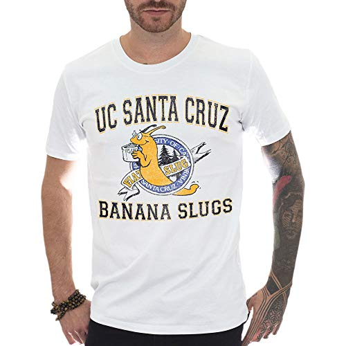 Mush T-Shirt in Cotone Biologico Uomo M Pulp Fiction Santa Cruz University Banana Slugs