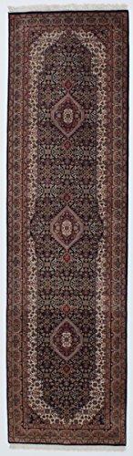 Nain Trading Indo Täbriz 305x84 Orientteppich Teppich Grau/Dunkelbraun Handgeknüpft Indien