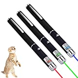 3 Pcs Red Green Blue Laser Pointer for Cats Dogs Pet Interactive Toys, Chasing Exercise Entertain Toy for Indoor Cat,Laser Presentation Remotes for Indoor Classroom Teaching