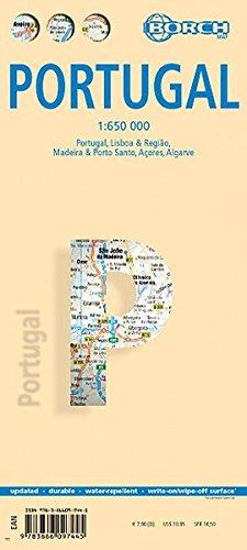 Portugal: 1:650000. Einzelkarten: Portugal 1:650000, Açores 1:2 Mill., Lisboa & Região 1:110000, Madeira & Porto Santo 1:500000, Algarve 1:300000, Europe time zones, Portugal administrative