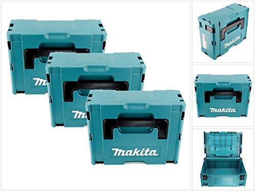 Makita MAKPACSET2 Makpac Gr. 2 Transportbox 3er Set, 22 x 250 mm