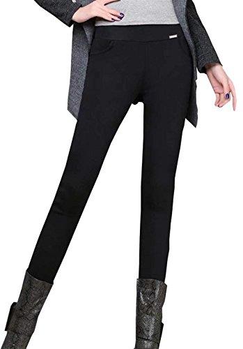 Pantalones Mujer Espesar Termica Elásticos Lápiz Leggins Otoño Invierno Fashion Elegantes Unicolor Bastante Cintura Alta Skinny Pantis Termo De Pantalones Pantalones De Tiempo Libre
