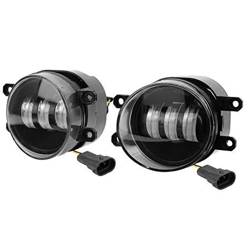 Faros antiniebla LED para coche, 2 uds, Faros antiniebla LED para parachoques delantero, luces antiniebla de conducción, 20 W, blanco, amarillo, color dual 81210‑48050 81210‑0D042