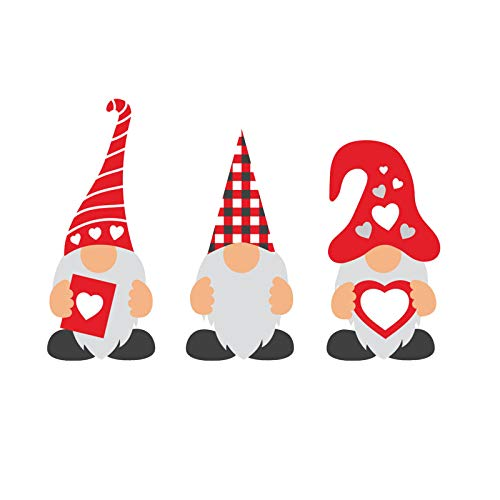 N / N Yard Signs Valentine's Day Decorations - Valentine Gnomes Patio Lawn Ornaments with Stakes - Outdoor Love Gnomes Swedish Tomte Elf Corrugated Yard Signs Decor for Wedding Anniversary (3Pcs)