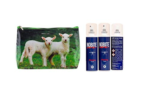 Nobite Spray für Kleidung, Sparpack, Doppelpack, 2 x 100 ml in schöner gratis Waschtasche von Tigapaw ®