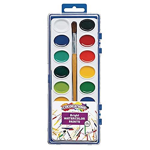 Colorations Washable Watercolors, 16 Colors, Watercolor Paint Palette, Watercolor Paint Set, Washable Watercolor, Washable Watercolors for Kids, Kids Washable Watercolor Paint, Non Toxic Kids Paint