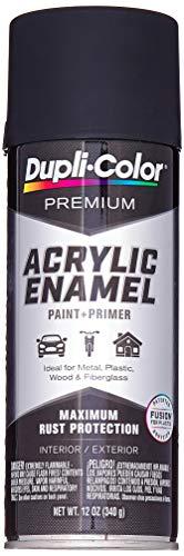 Dupli-Color-EPAE10100 Semi-Gloss Black Premium Acrylic Enamel Spray Paint , 12 oz