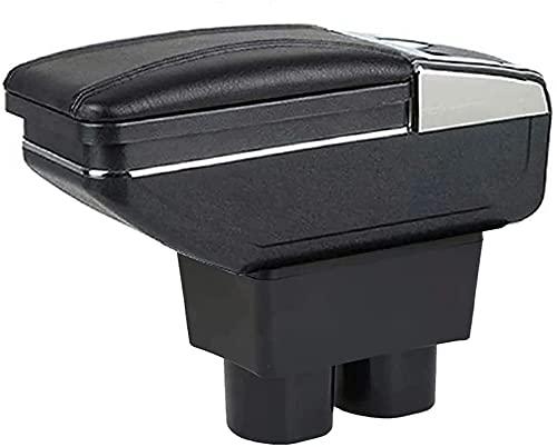 Apoyabrazos para Nissan para Versa 2007-2011 Consola Central De Coche Caja De Reposabrazos Caja De Almacenaje Accesorios con Taza (Color : 1)