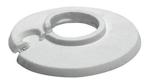 Sanitop-Wingenroth 19218 7 Klapprosette Rosette, Weiß   18 mm oder 3/8 Zoll   Außendurchmesser 49 mm   4er Set, 4 Stück