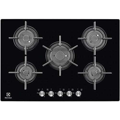 Electrolux - Piano cottura a gas PVF 750 UON finitura cristallo nero da 75cm