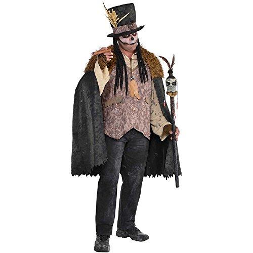 shoperama Witch Doctor Voodoo-Priester Herren Kostüm Medizinmann Regenmacher Schamane, Größe:XL/XXL