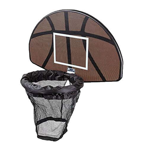 ClookYuan Universelles Design Langlebig Trampolin Basketballkorb Ring Rückwand Ball Set Basketballkorb Supplies - Schwarz