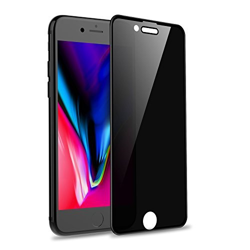 "Universal iPhone 8, 7, 6/6s Privacy Screen Protector, WEBELI Anti Spy Anti-Glare [4D Full Coverage] Tempered Glass for iPhone 8/7/6/6s 4.7"" (Black)"