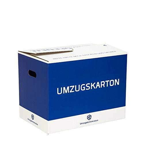 Umzugskartons Professionell - 10 Stck. - 52 Liter - Selbstschließend - Doppel Wellpappe - Extra fester - Umzugskartons (10)