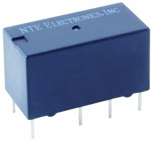NTE Electronics R40-11D2-12C Series R40 Sensitive Coil Single Contact PC Board Mount Epoxy Sealed Relay, Dual Coil, Latching Type, DPDT, 2 Amp, 12VDC