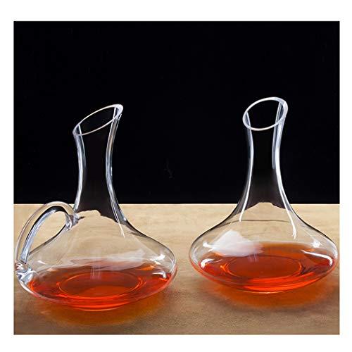 Ensemble de Gueule de Bois Au Vin Rouge Decanter, Matière Cristalline Sans Plomb, Vin Et Vin, Convient Au Festival Du Banquet, 19 * 24 Cm