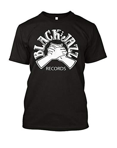 LJAH Black Jazz Records T Shirt Retro Funk Soul Music Label African American JazzTop Sweatshirt Short SleeveBlackL