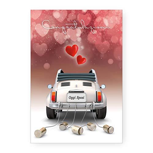 Biglietto Auguri Matrimonio Nozze 500