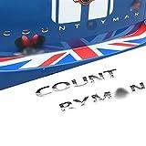 XMSM Coche Decorativo para BMW para Mini para Cooper S JCW One Countryman R60 F60 Cola De Coche Maletero Trasero, Letras 3D, Pegatinas De Metal Accesorios para Coche (Color : Plata)