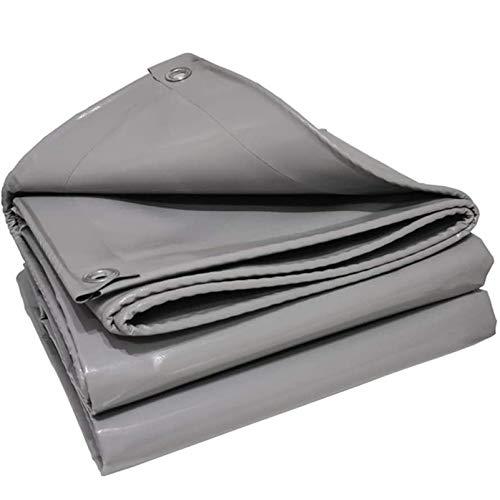 QIAOH Lonas Impermeables Exterior con Ojales 3×3m, Lona De Protección con Ojales, Carport Ground Sheet Covers Reversible Weave Poly Tarpaulin para Leña Y Objetos De Jardín, Vehículos