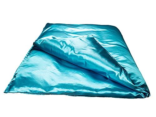 beties Glanz Satin Bettbezug ca. 135x200 cm anschmiegsam & edel Bettwäsche Glatt Glänzend mit verstecktem Reißverschluss (Aqua)