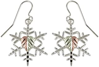 product image for Black Hills Gold Snow Flake Earrings in Sterling Silver