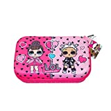 L.O.L. Surprise! Pencil Case for Girls Pink with Zipper for School Supplies