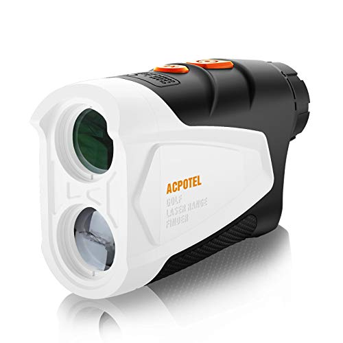 ACPOTEL Golf Rangefinder, Laser Rangefinder for Golf, 650 Yards Rangefinder Golf with Slope, Flag Lock and Speed Measure, Golf Laser Rangefinder with 6X Magnification, Continuous Scan