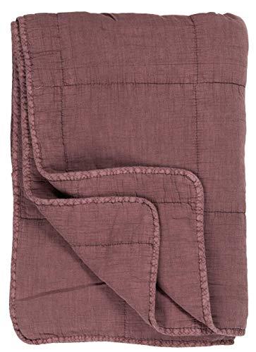 Ib Laursen - Quilt, Tagesdecke, Decke, Kuscheldecke - Farbe: Malve, Rosa - 100 prozent Baumwolle - 180 x 130 cm