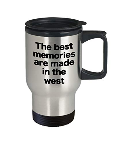 Wild west Mok Reizen Koffie Cup Grappig geschenk voor Sneeuw Vogels Oude Wild west Virginia iep ham