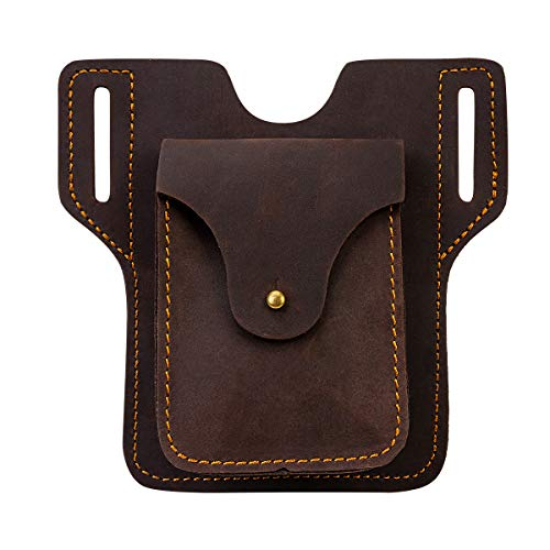 EASYANT Leather Cell Phone Case Holster EDC Tool Sheath Waist Card Bag Pouch Belt Loop