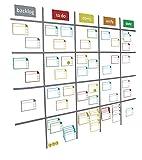Smileyboard Scrum Board - Premium Scrum-Karten Set - Magnetische Haftnotizen für das Task Board - Inklusive beschriftbare Magnetschilder, Magnetstreifen und wasserlöslichen Marker I Kanban Board